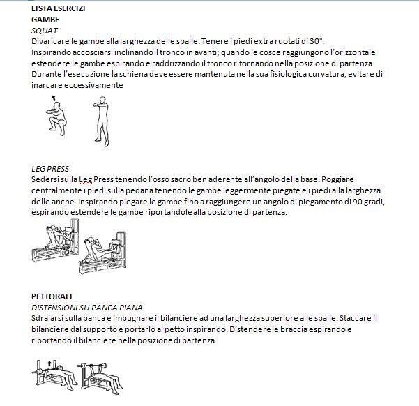 Manuale degli esercizi - Davide Cacciola Personal Trainer